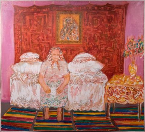 """Grzegorz Bienias, """"Oczekiwanie"""", 1986 r."""