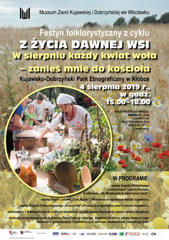 """Galeria dla Festyn folklorystyczny z cyklu """"Z życia dawnej wsi"""" - """"W sierpniu każdy kwiat woła – zanieś mnie do kościoła!"""""""