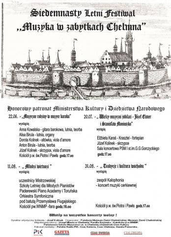 """Galeria dla XVII Letni Festiwal """"Muzyka w zabytkach Chełmna"""" - """"Wielcy muzyczni jubilaci  - Józef Elsner i Stanisław Moniuszko"""""""