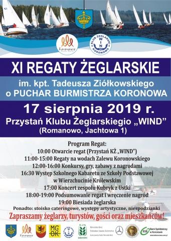 Galeria dla XI Regaty Żeglarskie im. kpt. Tadeusza Ziółkowskiego o Puchar Burmistrza Koronowa