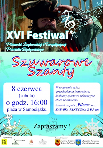 """Galeria dla Festiwal Piosenki Żeglarskiej i Turystycznej Powiatu Bydgoskiego """"Szuwarowe Szanty"""""""